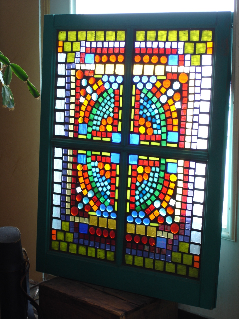 Stained Glass Mosaic Barn Window Colorfulgirl Com