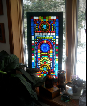 Stained Glass Mosaic made for my friends Mary and John