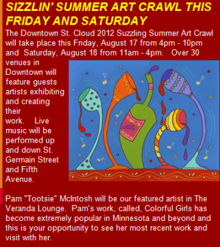 Art Crawl this Friday at Veranda Lounge, come see my new stuff!