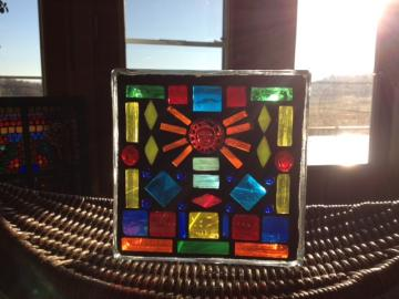 Stained Glass Mosaic Glass Blocks for $35 at Paper Collector in St Cloud