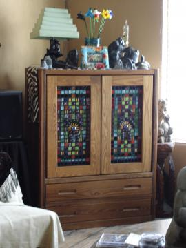 Stained Glass Mosaic doors